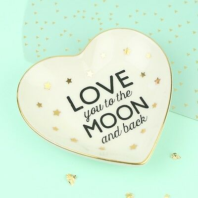 'Love You to the Moon and Back' Ring Dish