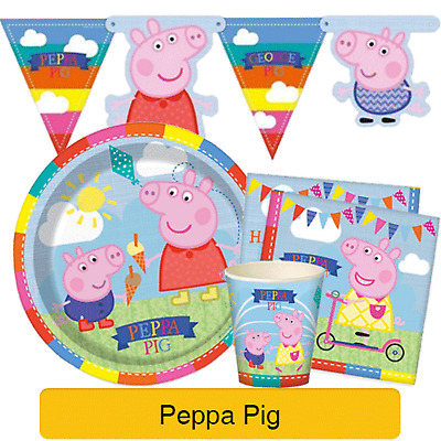 PEPPA PIG Birthday PARTY NEW Tableware Balloons Decorations Kids Supplies GEMMA
