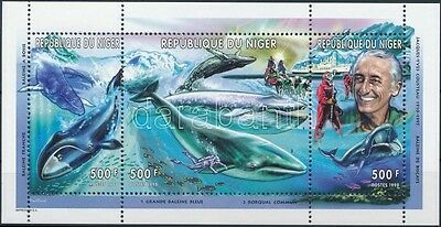 Niger stamp Jacques-Yves Cousteau Whales MNH 1998 Mi 1620-1622 WS225564
