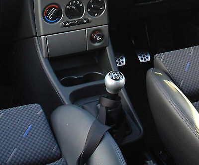 Black Leather Gear Shift Gaiter Cover Sleeve fit Vauxhall Zafira A MK1 1999-2005