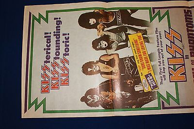 KISS IN ATTACK OF THE PHANTOMS 1990 Vintage Original & Very Rare Daybill Movie