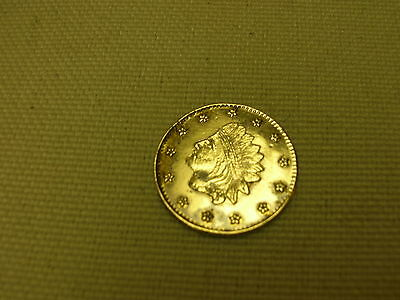 1856 California Gold Liberty Token 11mm Fractional Currency