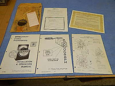 Seeburg STD3 Sunstar Installation & Operation Manual # 458662, complete package
