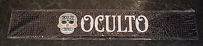 "Oculto Tequila Skull Logo Rubber Bar Rail Spill Mat 24x4"" - Brand New In Bag!"