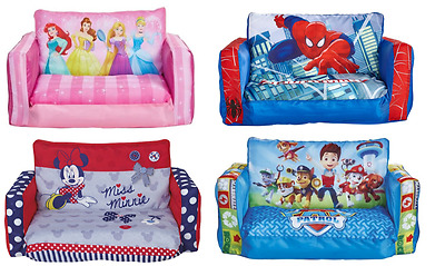 Choose From Character & Disney Flip Out Sofa, Monsters, Paw Patrol, Peppa