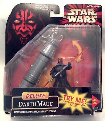 STAR WARS Episode I DELUXE DARTH MAUL Lightsaber Handle Sound HASBRO 1998