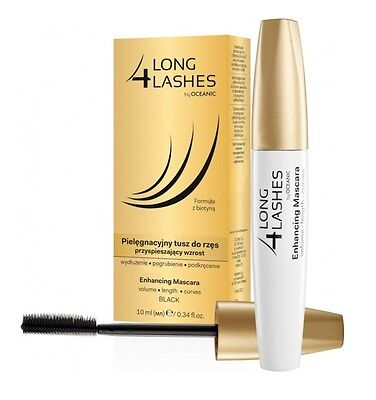 Long 4 Lashes Oceanic AA Eyelash Enhancing Growth Black Mascara with Biotin 10ml