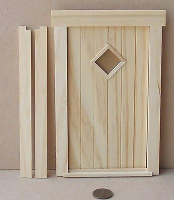 1:12 Scale Opening External Wooden April Door & Frame Dolls House Fairy 251