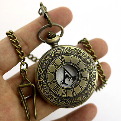 Assassin's Creed Chain Necklackle Pocket Watch Cosplay Gift for Halloween