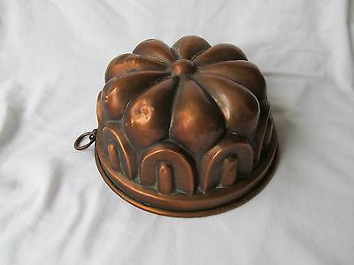 Antique Copper Jelly / Cake / Aspic Mold, Mould Lined