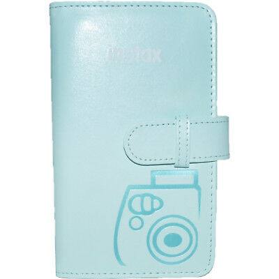 Fujifilm Instax Mini Wallet 108 Photo Album Ice Blue for 7S 8 9 25 50S 90 Camera