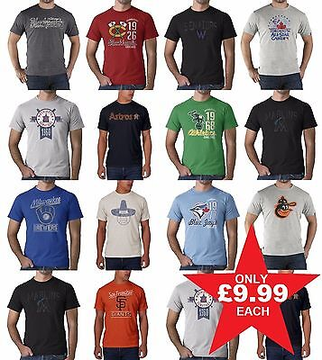47 Brand Mens T-Shirt Official Licensed Baseball MLB Tee Summer ALL SIZES