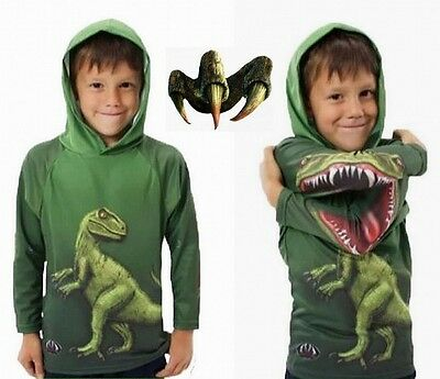 Kids Toddler Children Boys Dinosaur Print Hoodie Casual Cute Long Sleeve T-shirt