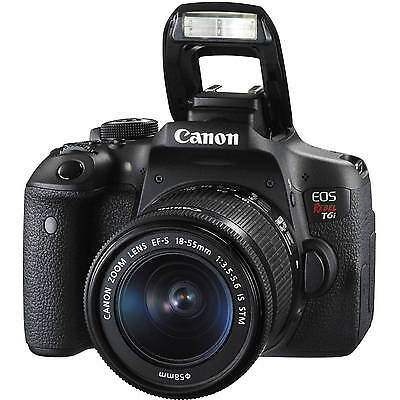 Canon EOS Rebel T6i / 750D DSLR Camera with 18-55mm Lens