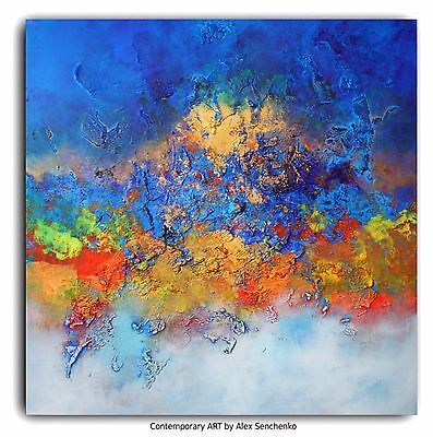 Abstract  painting. Acrylic painting. Contemporary ART By Alex Senchenko ©. #072
