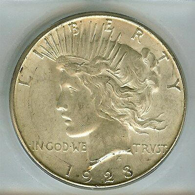 1923-S Peace Silver Dollar  Icg Ms61
