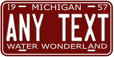 Michigan 1950 - 70 Any Text Personalized Novelty Car Auto Aluminum License Plate