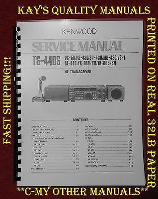 Kenwood TS-440S Service Manual ON 32LB Paper w/The Heavier Covers!