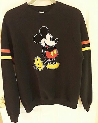 vintage 80s MiCKEY MOUSE SWEATSHiRT - XL Disney Character Fashions USA black