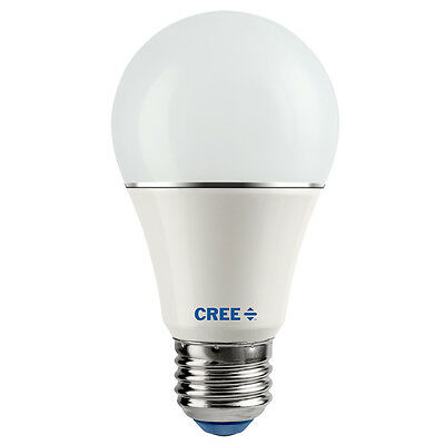 CREE LED 60W = 9W Daylight DIMMABLE 60 Watt Equivalent A19 5000K E26 light bulb