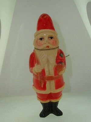 Wonderful Antique Viscoloid Co. Celluloid Standing Santa With Presents Figure!
