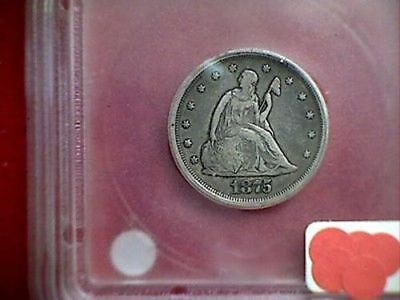1875 S/S Seated Liberty 20 Cent Piece, Graded F15 by ICG RARE 20 Cents klx