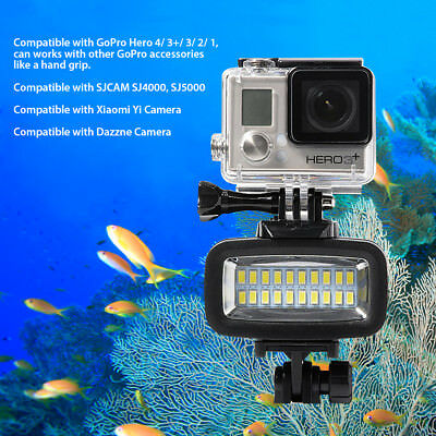 Sunix 20 LED Diving Video Fill-in Light Lamp Waterproof for GoPro Hero Cam SU727