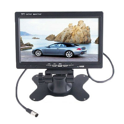 "7"" TFT LCD Color 2 Video Input Car Rear View Headrest Monitor DVD VCR L6Q5"