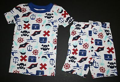 NEW Gymboree Outlet Boy Pirate Themed Summer Pajamas PJs size 4 5 6 7 8 10 12