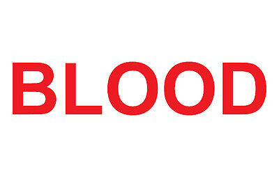 3M Scotchlite Reflective Red Blood Lettering Stickers - Courier Emergency Bike