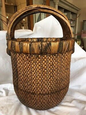 Chinese Woven Willow Rice Basket