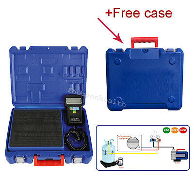 220 lbs Electronic Refrigerant Charging Digital Weight Scale + Case for HVAC