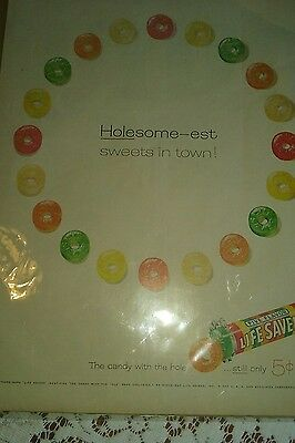 Estate sale find! Holesome-eat Suites in town! Lifesaver advertisement 5 cents