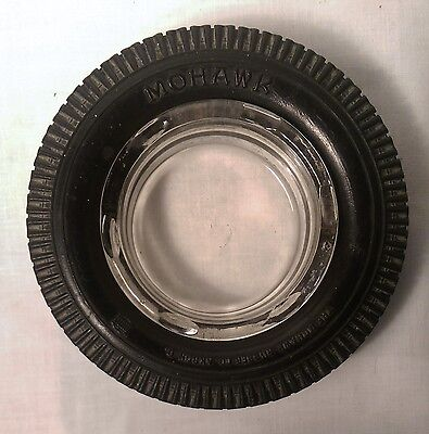 Mohawk Rubber Co. Tires Advertising ashtray. A vintage charmer from Akron. OH