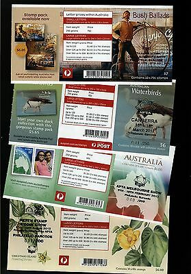 """Australia - 4 x Very Limited Edition """"APTA"""" Stamp Show Overprint Booklets"""