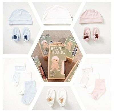 2 for 1 Deal!!! Boody Organic Bamboo Beanie & Booties Blue 3-6months