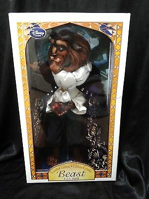 """DISNEY STORE 2016 Beast BEAUTY AND THE BEAST DOLL 17"""" LE 3500 Limited COA 504!!"""