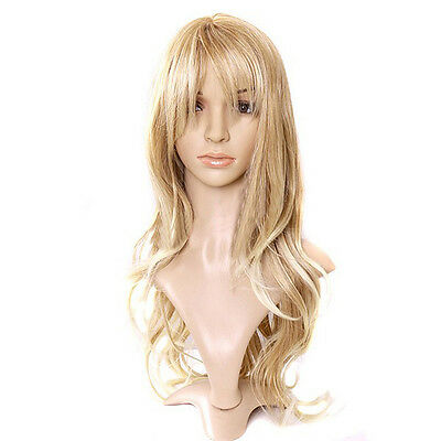 Women's Fashion Wig Curly Hair Wigs With Bangs Long Curly Hair Blond Hair