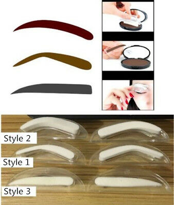Natural Eyebrow Powder Makeup Brow Stamp Palette Shadow Definition Tools