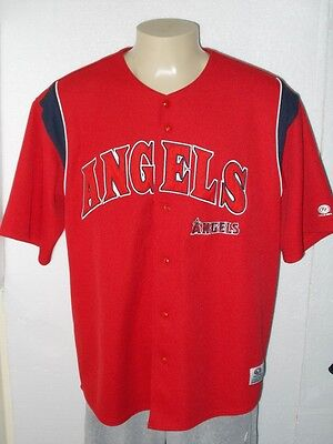 24a15892 NIKE SEWN LOS Angeles Angels Red Team Mlb Baseball Jersey Women Xl ...