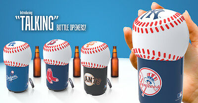 "Bottlepops: MLB ""Talking"" Bottle Opener - A Great Gift Idea for Baseball Fans!"