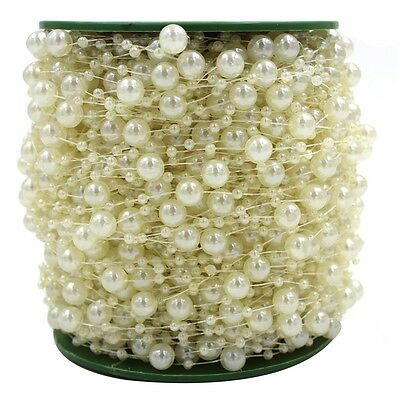 Pearl Garland Ivory 5M Wedding, Crafts, Decorations, Cards, Flowers, Shabby Chic