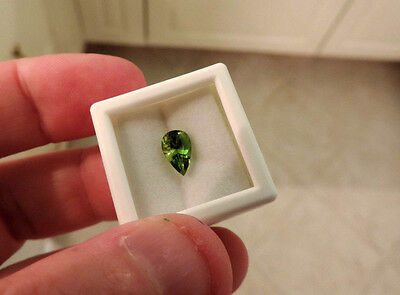 1.75ct Green San Carlos Gila Co. Arizona Peridot. Cut by me:) NICE SPECIMEN