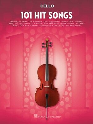 101 Hit Songs - Cello Edition Book *NEW* Pop Music