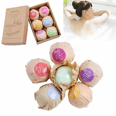 6pcs Lot Sea Salt Lush Bath Bombs Ball Fizzy Smell Spa Gift Set Assorted Scents