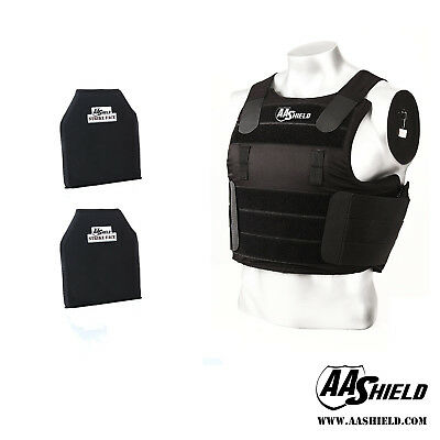 AA Shield Tactical Ballistic Concealable Vest Soft Armor Carrier Lvl IIIA Plates