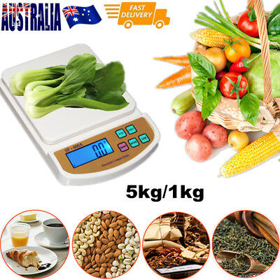 5kg/1g Digital LCD Electronic Kitchen Scale Food Weighing Postal Scales AutoRest