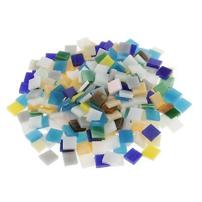 250pcs Multicolr Square Glass Mosaic Tiles Vitreous Tessara for Art Crafts