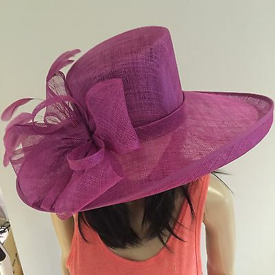 Nigel Rayment Magenta Pink Wedding Ascot Hat Occasion Formal Mother Of The Bride