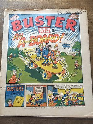 Vintage Buster & Monster Fun Comic 12/11/77 UK Paper Comic 40 Year Old 1970s 70s